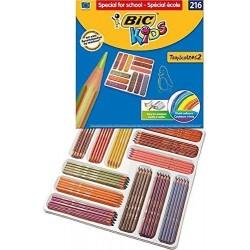 Creioane colorate BIC Tropicolors2, 216 buc