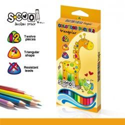 Creioane color triunghiulare 12 culori intense