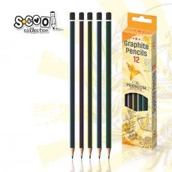 Creion triunghiular HB, calitate Premium