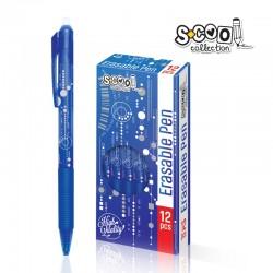 Pix albastru cu cerneala termosensibila si radiera