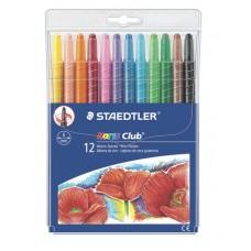 Set de 12 creioane colorate NORIS TWISTER cu mina de ceara