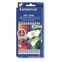 Set de 12 creioane colorate NORIS cu guma