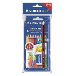 Set de 12 creioane colorate NORIS + creion Traditio + radiera
