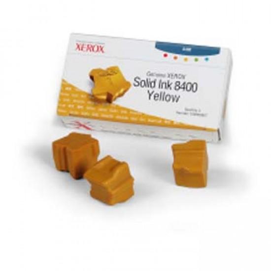 Cerneala solida yellow Xerox 108R00607 Phaser 8400 - set 3 rezerve