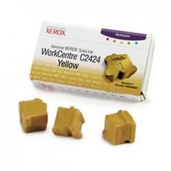 Cerneala solida yellow Xerox 108R00662 WorkCentre C2424 - set 3 rezerve