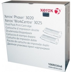 Toner Xerox 106R03048 Phaser 3020 si WorkCentre 3025 - dual pack