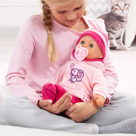 Papusa Bayer Anna First Words Baby 38 cm