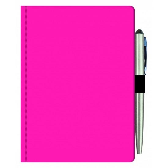 Agenda MAVILEX roz nedatata cu suport pix cu dimensiunea A6