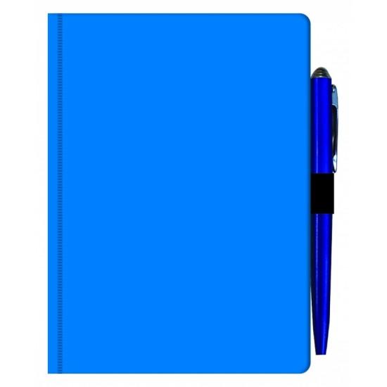 Agenda MAVILEX albastra nedatata cu suport pix cu dimensiunea A6