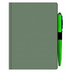 Agenda MAVILEX verde nedatata cu suport pix cu dimensiunea A6