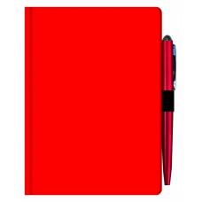 Agenda MAVILEX rosie nedatata cu suport pix cu dimensiunea A6
