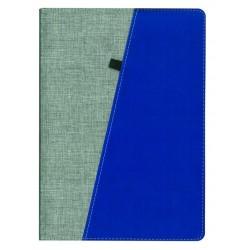 Agenda nedatata B5 Trendy, gri cu albastra