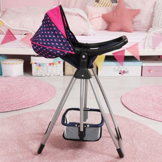 Scaun de papusi Trio: Balansoar - pat - scaun de masa Bayer pentru papusi