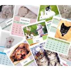 Calendar de perete cu pisicute P3 A5; A4 sau A3