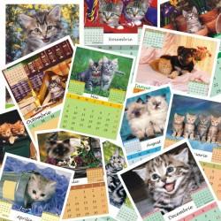 Calendar de perete P4 cu pisicute  A5; A4 sau A3