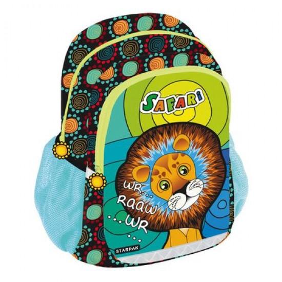 Ghiozdan mediu pentru copii Safari Lion