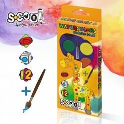 Acuarele 12 culori (28mm) + Pensula