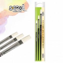 Set 3 pensule varf tesit